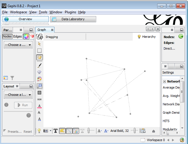Gephi basics: simple network graph analysis from spreadsheet