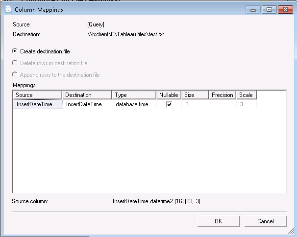 Exporting CSV data from SQL Server Management Studio