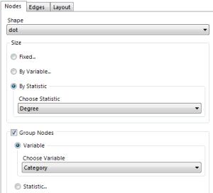 Options for network viz tool