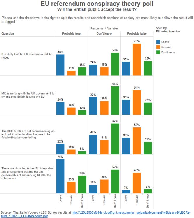EU referendum conspiracy theory poll